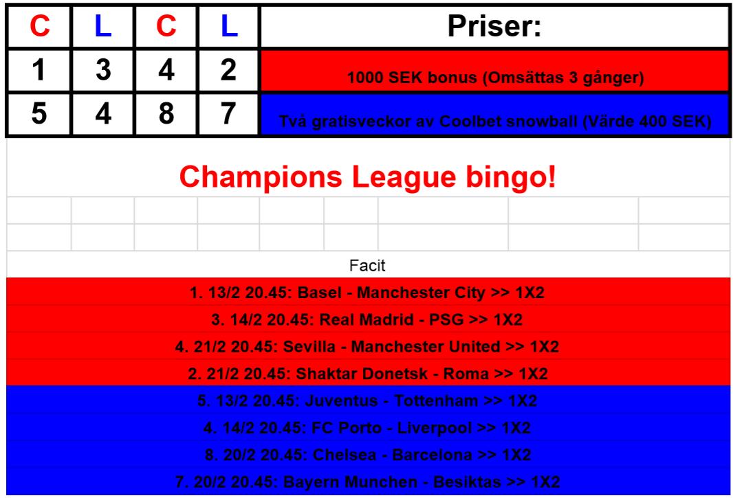 CL bingo facit 13-21e