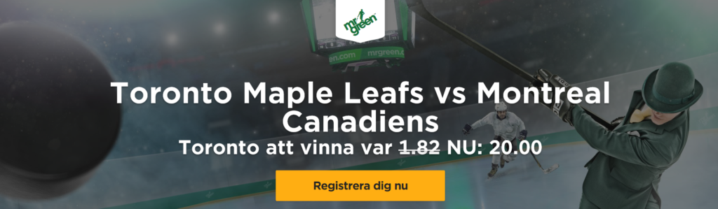 Exklusivt odds Toronto Maple Leafs 20,00 – På Toronto Maple Leafs – Montreal Canadiens